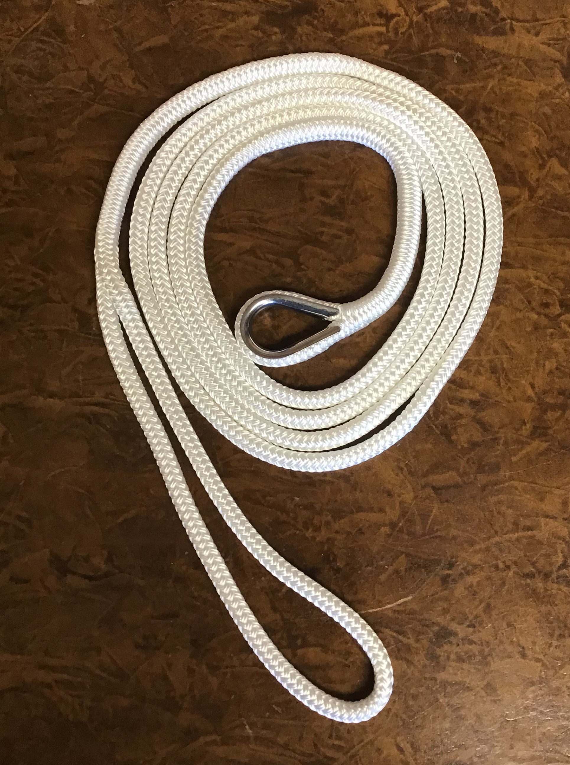 "3/4"" X 25 Foot MOORING LINE - White"